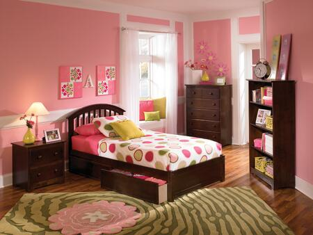 Atlantic Furniture SRICHMONDFPFTWINCL Richmond Series  Twin Size Bed
