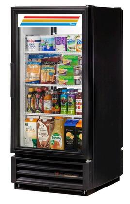 True GDM 10 Cu. Ft. Glass Door Merchandiser with Hydrocarbon Refrigerant, LED Lighting and Thermal Insulated Glass Swing-Doors in Black