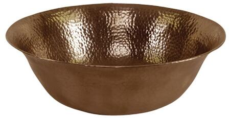 Above Counter Lavatory Basin with Hammered Antique Copper Finish (Regular View)