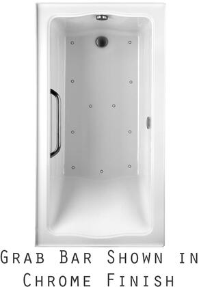 Toto ABR782R01YCPX Clayton Series Drop-In Airbath Tub with Acryclic Construction, Slip-Resistant Surface, and Polished Chrome Grab Bar, Cotton Finish