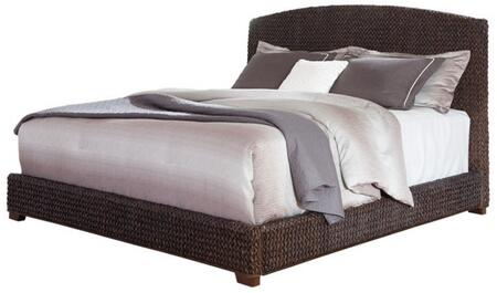 Coaster Laughton 30050 Size Panel Bed with Woven Banana Leaf, Solid Wood and Selected Veneers in Dark Brown Color