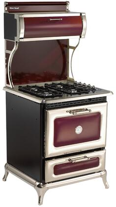 "Heartland 4210CDGCRN 30"" Classic Series Dual Fuel Freestanding Range with Sealed Burner Cooktop, 4 cu. ft. Primary Oven Capacity, Warming in Red"