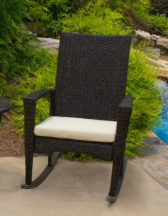 Tortuga BAY-R Bayview Rocking Chair with All-weather 1/2 Round Resin Wicker, Powder Coated Aluminum Frames and Cushion Included in X