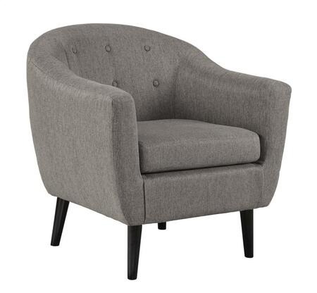 """Milo Italia Tristin MI-4666TMP 30"""" Fabric Accent Chair with Button Tufted Details, Tapered Legs and High-Resiliency Foam Cushions in"""