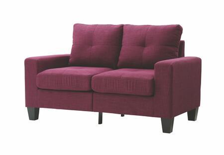 Glory Furniture G471AL Newbury Series Fabric Stationary Loveseat