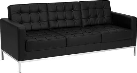 """Flash Furniture HERCULES Lacey Series ZB-LACEY-831-2-SOFA-XX-GG 80"""" Sofa with LeatherSoft Upholstery, Stainless Steel Legs and Button Tufted Seat & Back in"""