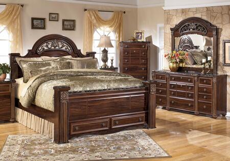 Milo Italia BR517KPSBSDM Spence King Bedroom Sets