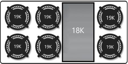 "Capital GRT486GL Sealed Burner 48"" 25.625"" 46.938"" 7.5"" 7 Gass Cooktop  Appliances Connection"