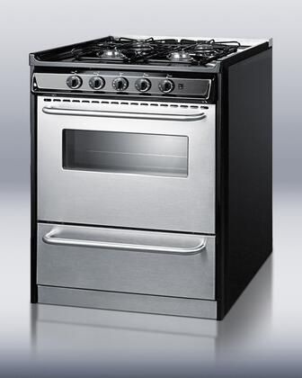 """Summit TNM21027BFRWY 30"""" Professional Series Slide-in Gas Range with Sealed Burner Cooktop Broiler 3.7 cu. ft. Primary Oven Capacity  Appliances Connection"""