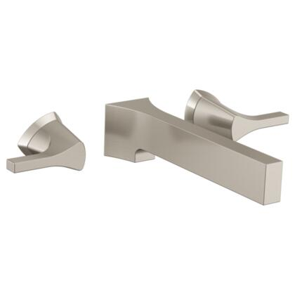Zura T3574LF-SSWL Delta Zura: Two Handle Wall Mount Lavatory Faucet in Stainless