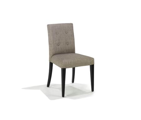 Armen Living LC3107SIASH Wall St. Series Traditional Fabric Wood Frame Dining Room Chair