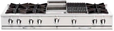 "Capital CGRT604BG2N 60"" Culinarian Series Natural Gas Open Burner Style Cooktop"
