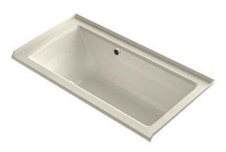 "Kohler K-1947-GRW- Archer 60"" x 30"" Alcove BubbleMassage Air Bath with Integral Flange, Right-Hand Drain and Bask Heated Surface"