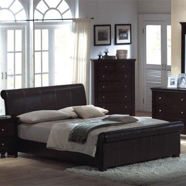 Yuan Tai MN4021K Montgomery Series  King Size Sleigh Bed