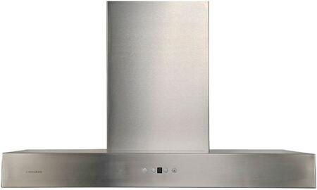 Cavaliere AirPRO 238 Professional AP238-PSZ Flat Wall Mount Range Hood With 860 CFM, Touch Sensitive LED Control Panel, Ultra Quiet Single Chamber Motor, 6 Speed Levels with Timer Function In Stainless Steel