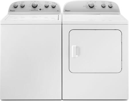 Picture of 2-Piece White Top Load Laundry Pair with WTW4816FW 28 Washer and WED4815EW 30 Electric