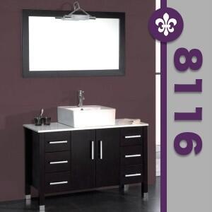 """Cambridge 8116X 48"""" Espresso Bathroom Vanity Set with a Faucet"""
