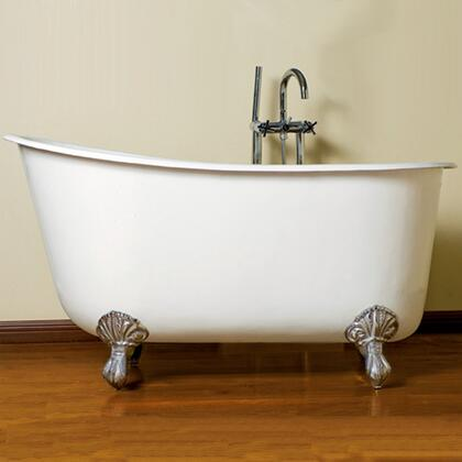 "Cambridge SWED54NH Cast Iron Swedish Slipper Tub 54"" x 30"" with No Faucet Drillings"