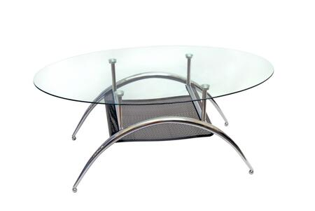 Walker Edison C42BM Silver Contemporary Table