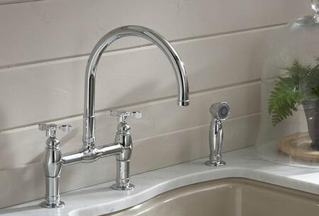 Kohler K-6131-3- Parq deck-mount kitchen faucet with spray: