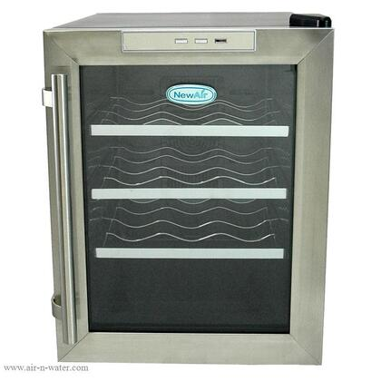 "NewAir AW121E 19.5"" Stainless Steel Freestanding Wine Cooler"