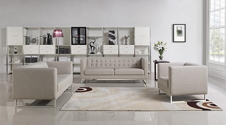 VIG Furniture VGMB1400GRY Modern Fabric Living Room Set