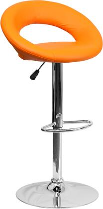 Flash Furniture DS811ORGGG Residential Vinyl Upholstered Bar Stool