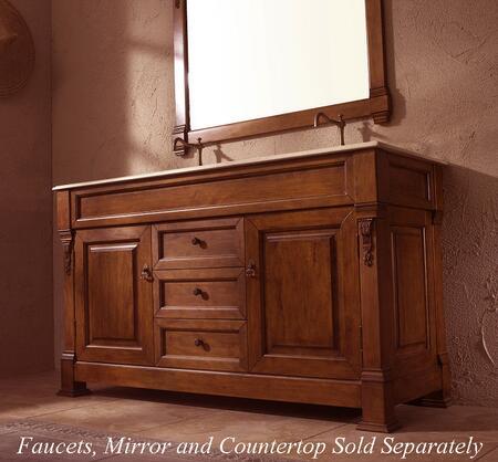 "James Martin Bosco 147-114-5 XX"" Double Bathroom Vanity Cabinet With X Doors, 3 Drawers, Antique Brass Hardware, Solid Oak Grade A Hardwood, In"
