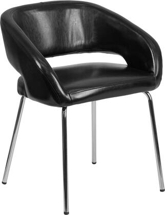 "Flash Furniture Fusion Series CH-162731-XX-GG 23"" Reception Lounge Chair with Chrome Legs, LeatherSoft Upholstery and Curvaceous Frame in"