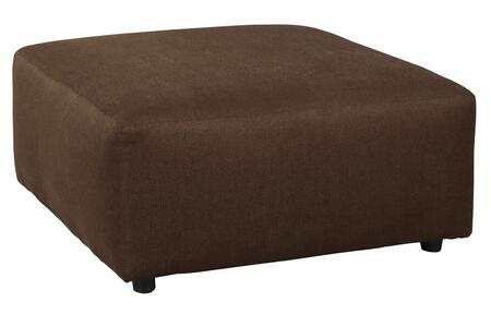 """Milo Italia Camila MI-8234ETMP 40"""" Fabric Oversized Accent Ottoman with Rounded Edges and Small Round Feet in"""