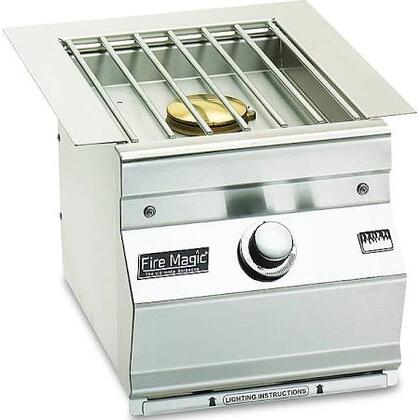 """FireMagic 3279-1 13"""" Stainless Steel, Built-In, Natural Gas Side Burner with 15,000 BTUs and Push Button Ignition"""