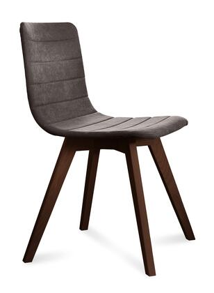 Domitalia FLEXAS0KSCHS8I Flexa Dining Chair with Chocolate Ashwood Frame, Tapered Legs and Fabric Upholstery