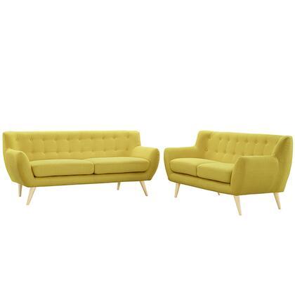 Modway EEI1785SUNSET Modern Fabric Living Room Set