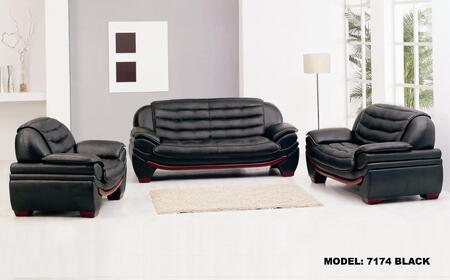 VIG Furniture VGEV7174 Modern Leather Match Living Room Set