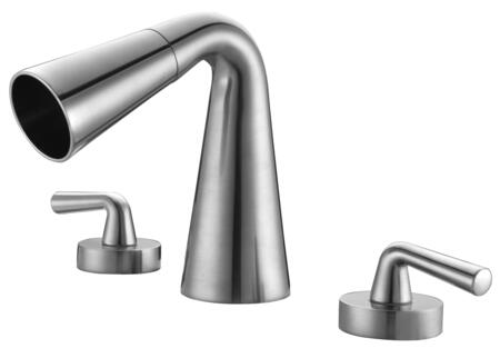 Alfi AB1790-X Widespread Cone Waterfall Bathroom Faucet with Brass, Valve, UPC Certified, Three Hole / Widespread Deck Mount Installation and Double Lever Control in