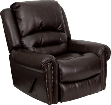 Flash Furniture MENDSC01056BRNGG Contemporary Bonded Leather Wood Frame Rocking Recliners