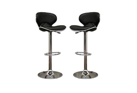 Wholesale Interiors M90064BLACK Orion Series  Bar Stool