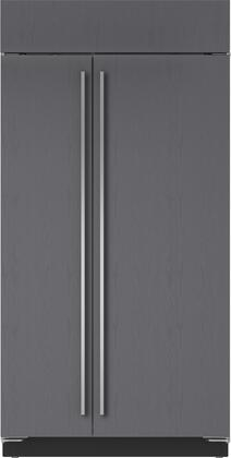 "Sub-Zero BI-42/S 42"" Built-In Side-by-Side Refrigerator with 23.9 cu. ft. Total Capacity, Water Filtration System, Automatic Ice Maker, and Air Purification System, in"