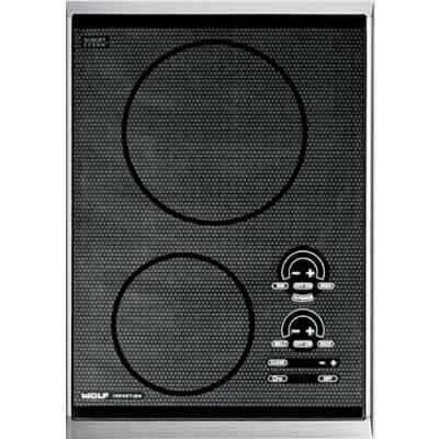 "Wolf CT15IS 15""  2 Element Yes Cooktop, in Black"