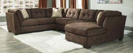 Milo Italia MI-2144ETMP Gillian Sectional with Sofa on the Left, Armless Loveseat and Right Arm Facing Corner Chaise in