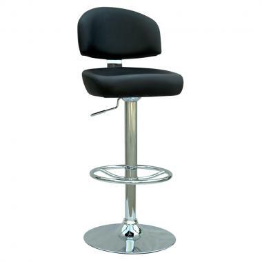 Chintaly 0362ASBLK  Bar Stool