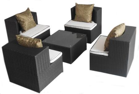 Deeco DMGC504 Square Shape Patio Sets