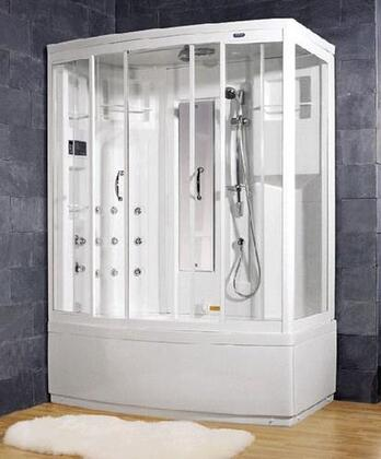 Ariel ZAA208 Ameristeam Whirlpool Steam Shower Enclosure With Whirlpool Massage Jets, Accupressure Body Massage Jets, Overhead Rainfall Shower Head & Multi-Functional Handheld Showerhead