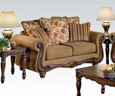 Acme Furniture 50311 Olysseus Series Fabric Stationary Loveseat