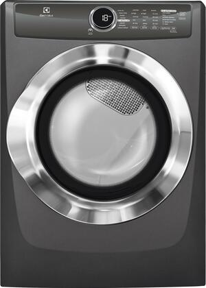 """Electrolux EFME517S 27"""" Energy Star Front Load Electric Dryer with 8 cu. ft. Capacity, 8 Dry Cycles, Steam Perfect Wrinkle Release Option and Reversible Door:"""