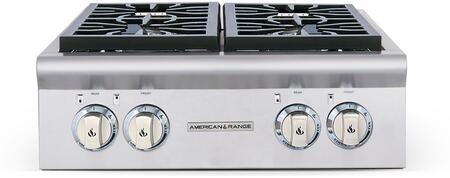 """American Range ARSCT244N 24"""" Legend Series Gas Sealed Burner Style Cooktop, in Stainless Steel"""