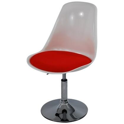 Fine Mod Imports FMI2129WHITERED Commercial/Residential Suede Upholstered Bar Stool