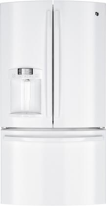 GE DFE29JGDWW  French Door Refrigerator with 28.6 cu. ft. Capacity in White