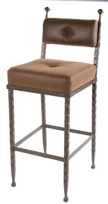 Stone County Ironworks 904197FAUXOBE Forest Hill Series  Bar Stool