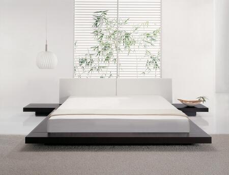 Modloft HB39AKWEN Worth Series  King Size Platform Bed